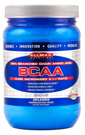 AllMax Nutrition BCAA, 400 Grams Unflavored